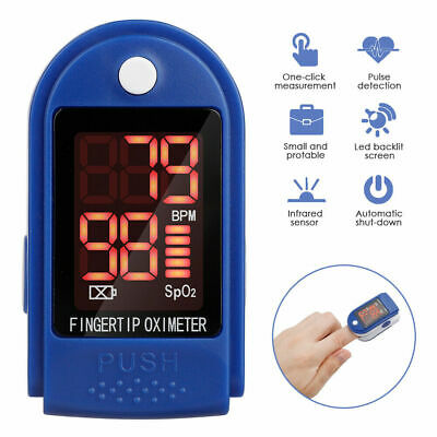 Us Finger Pulse Oximeter Blood Oxygen Saturation Spo2 Meter Fingertip Pr Monitor