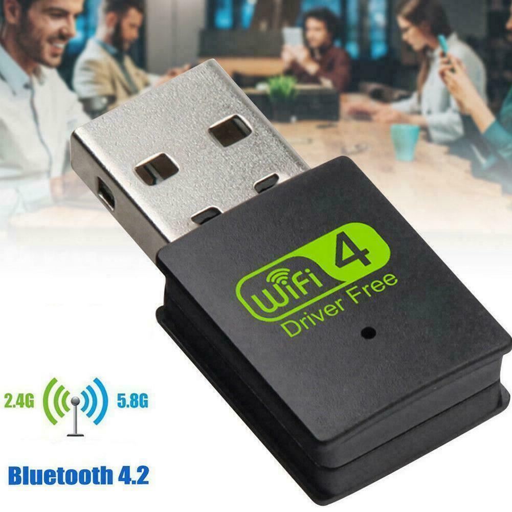USB2.0 WiFi Bluetooth Adapter Dual-Band Wireless External Fo