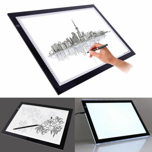"19""/13"" Led Tracing Light Box Drawing Tattoo Board Pad Table Stencil Art Design"