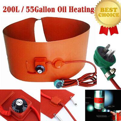 55gallon200l 1000w Silicon Band Drum Heater Oil Biodiesel Metal Barrel Utility