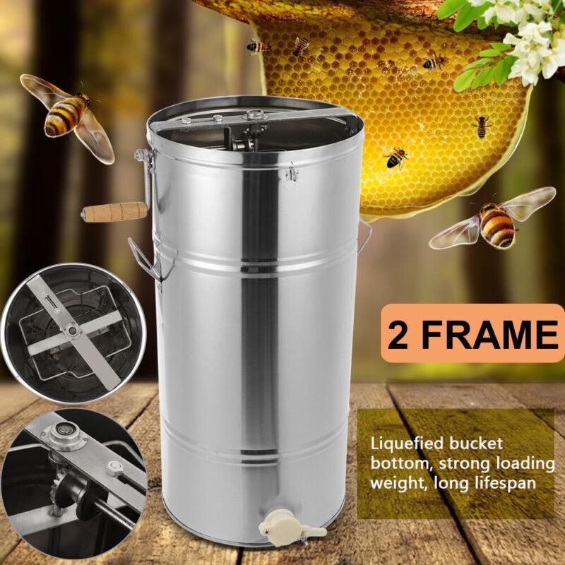 "Honey Extractor Beekeeping Equipment Bee 2 Frame Stainless Steel Large Drum 28"""