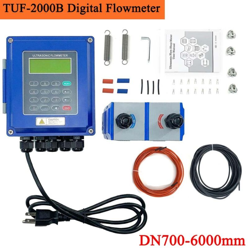 TUF-2000B Ultrasonic Liquid Flow Meter Industrial Digital Flowmeter DN700-6000mm