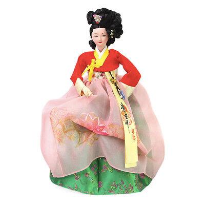 "Korean Traditional Handicraft Dolls Hwang Jin-Yi 14.5"" Collectible Figure Gift"