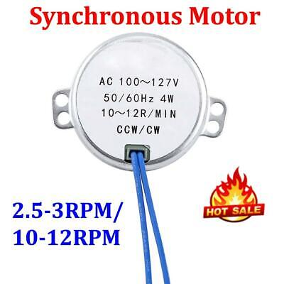 Small Synchronous Motor Ac 100-127v 5060hz 4w Ccwcw 2.5-3rpm10-12rpm