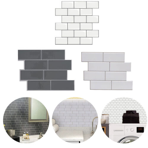 Home Decoration - 3D Self-Adhesive Kitchen Wall Tiles Bathroom Mosaic Brick Stickers Peel & Stick