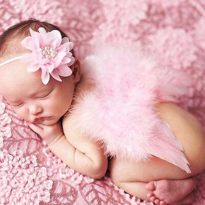 Fotoshooting Baby Fotografie Feder Engelsflügel+Stirnband Set NeugeborenenKostüm