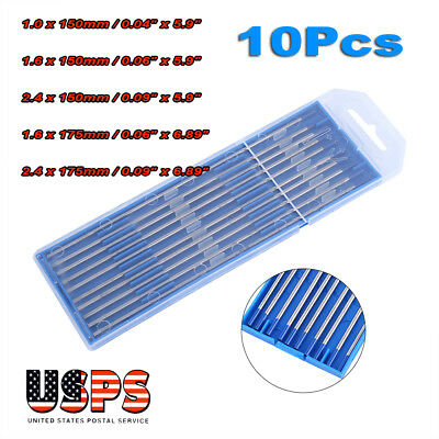 10x Tig Welding Tungsten Electrode 2 Lanthanated Blue 332x 6 Us Seller Fast