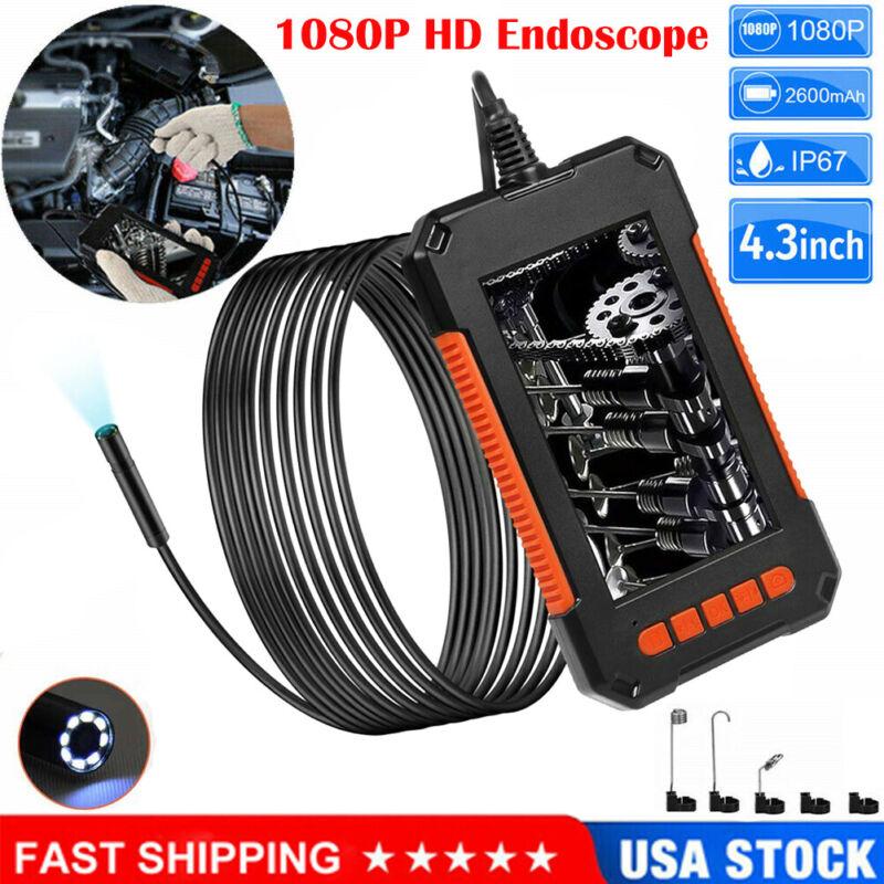 "2M/5M/10M Industrial Endoscope 1080P HD 4.3"" Screen Borescope Inspection Camera"