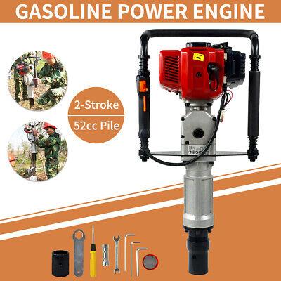 Gas Powered T Post Driver 52cc 2.3hp Pile Gasoline Engine Push Fence Farm Us