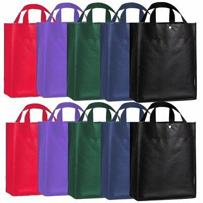 Lot 10 Packs Shopping Eco Reusable Grocery Tote Bag Shoulder Grab Bag Handbag - Adults Shopping