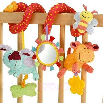 Cute Animal Handbells Developmental Toy Bed Bells Rattle Soft Toys For Kids Baby