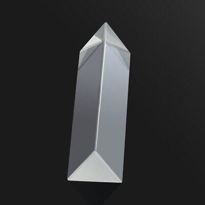 1pc 9cm Optical Glass Triple Triangular Prism Physics Teaching Light Spectrum