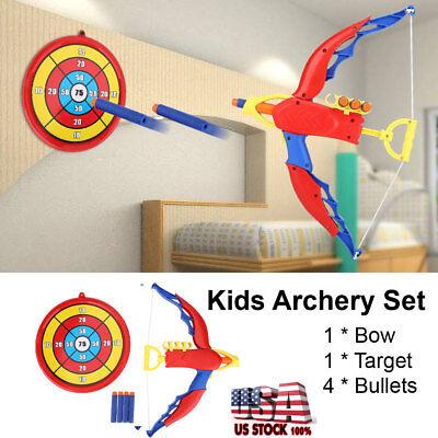 - Kids Toy Bow & Arrow Archery Target Aiming Shooting Set Outdoor Garden Fun Game