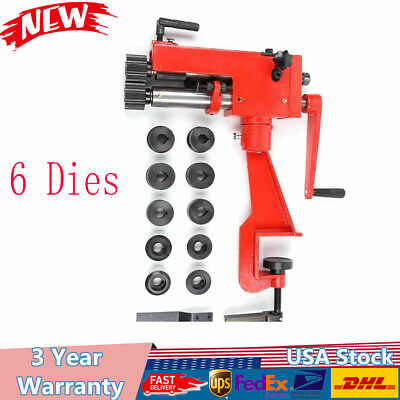Low Carbon Sheet Metal Bead Roller Machine Steel Bender 22-gauge W 6 Die Set Us