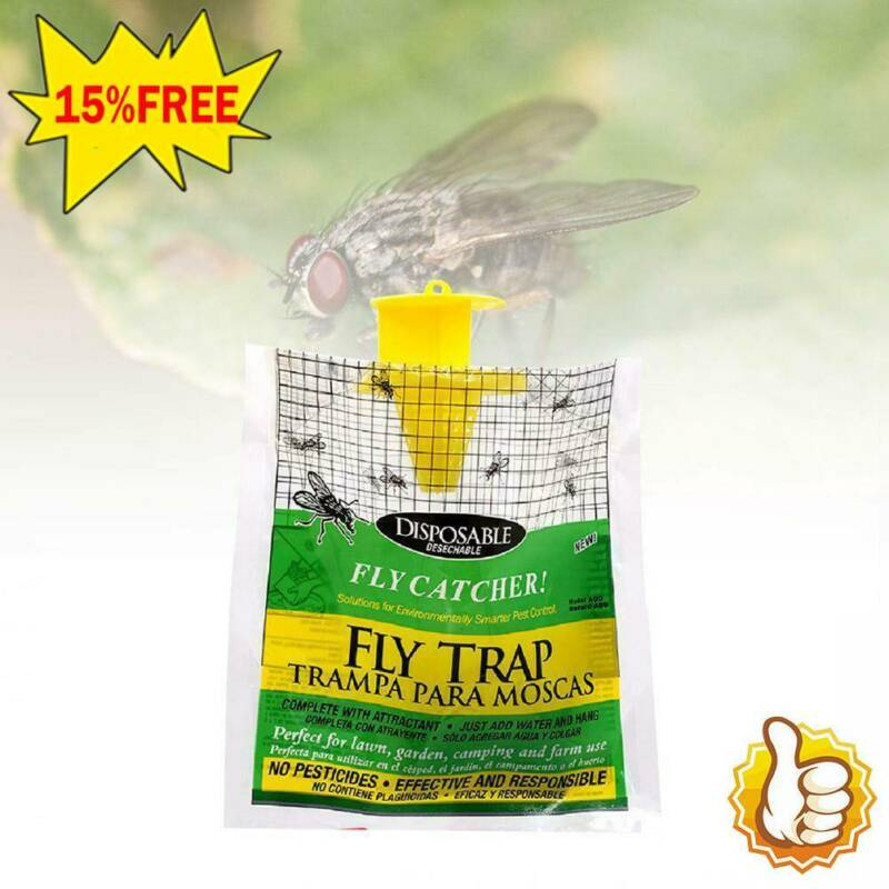 packs rescue disposable fly trap non toxic