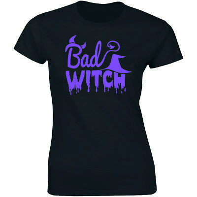 Funny Halloween Tricks (Bad Witch Shirt - Cool Funny Halloween Trick or Treat Womens T-shirt)