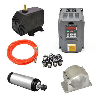 110v Water Cooled Spindle Motor Er20 2.2kw Spindle 2.2kw Drive Inverter Vfd