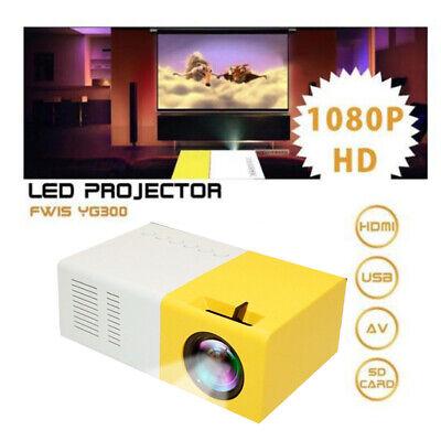 YG300 Mini Portable Multimedia TFT LCD Projector Full HD 1080P Home Theater USB