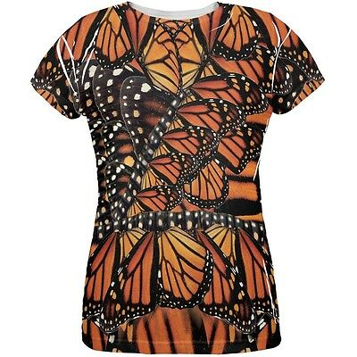 Monarch Butterfly Costume All Over Womens T-Shirt](Monarch Butterfly Costume Women)