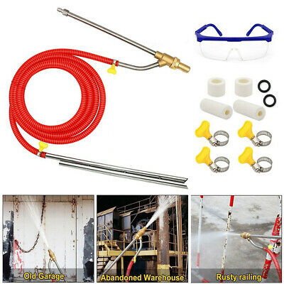 Pressure Washer Sandblasting Kit,Wet Sandblaster Attachment,5000 PSI,1/4 In