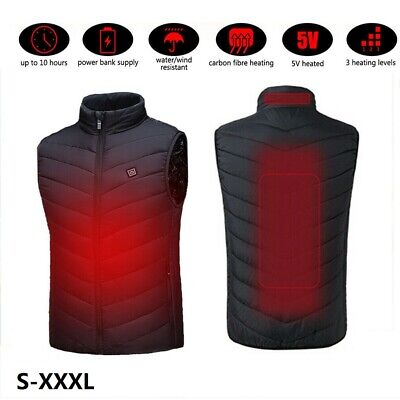 Electric Warm Heated Vest Jacket USB Charging Clothes for Men Women