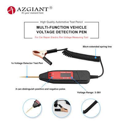 Car Voltage Detector Test Pen Digital Display Circuit Tester With Clip Dc 3-36v