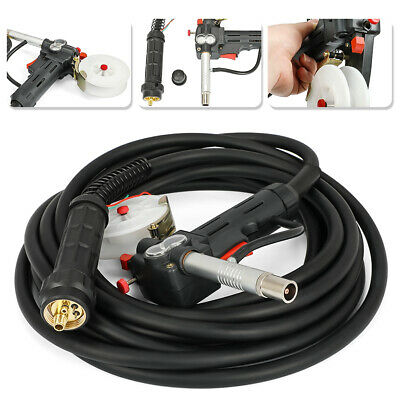 Toothed Roller 10 Feet Mig Spool Gun Wire Feed Aluminum Welder Torch Weld Parts