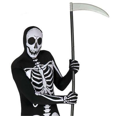 Plastic Grim Reaper Scythe 100cm Halloween Fancy Dress - Grim Reaper Requisiten