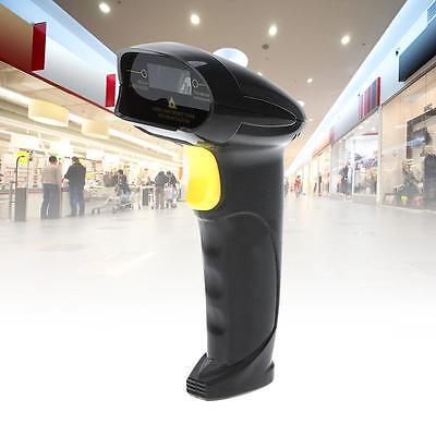Automatic Usb Laser Scan Barcode Scanner Bar Code Reader Black Handheld Stand Jm