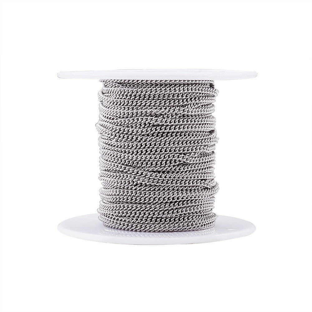82ft//Roll 304 Stainless Steel Cross Rolo Chains Unwelded Tiny String Spool 2mm