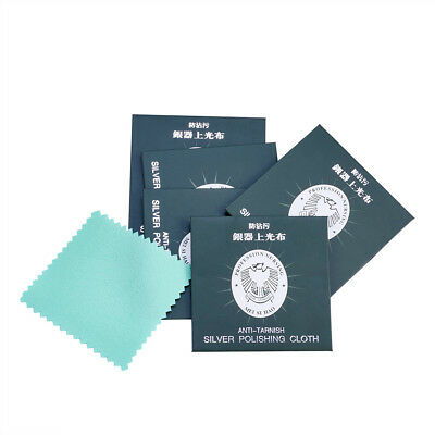 """50pcs Silver Jewelry Polishing Cloth For Cleaning & Antitarnish 2.95"""" Square"""