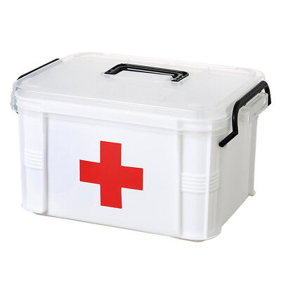 Large Family Home Medicine Chest Cabinet Health Care Plastic Drug First Aid GH#5
