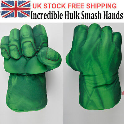 Incredible Hulk Smash Hands Plush Punching Boxing fists Gloves Cosplay kids Gift