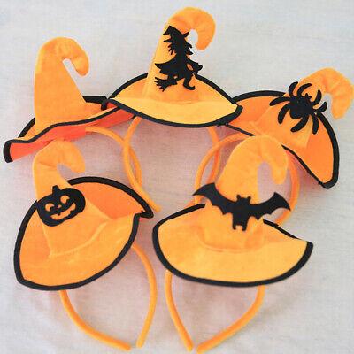 Cute Halloween Decor Witch Pumpkin Bat Spider Headband Kids Hairband Party Hat C](Halloween Witch Hat Headbands)