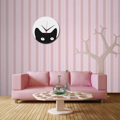 3D Modern Wall Clock DIY Cartoon Cat Acrylic Wall Clock Bedroom Home Decoration