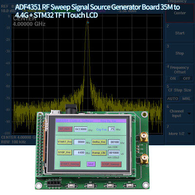 Adf4531 Rf Sweep Signal Source Generator Board 35m To 4.4g Stm32 Tft Touch Lcd