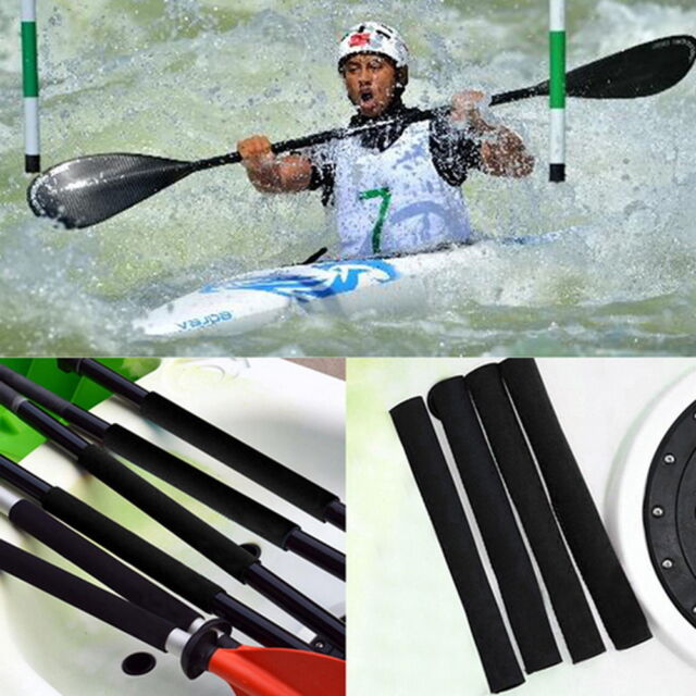2 Pcs Kayaking Paddle Grips Prevent Rubs Blisters/Efficient Paddling Black {