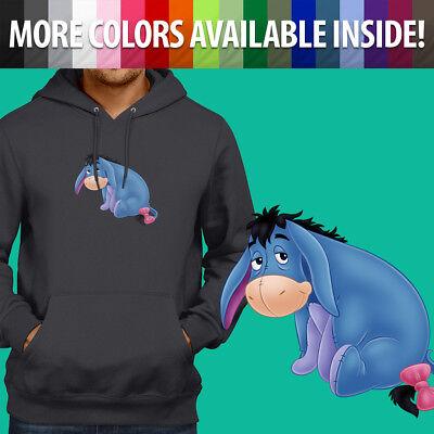 Disney Winnie the Pooh Eeyore Gloomy Donkey Pullover Sweatshirt Hoodie Sweater