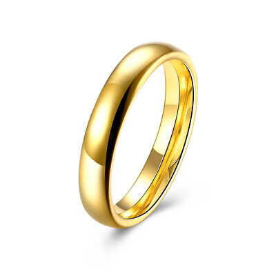 14K Yellow Gold Plated 3MM  Comfort Fit Men Or Women Wedding Band Ring 3mm Comfort Fit Band