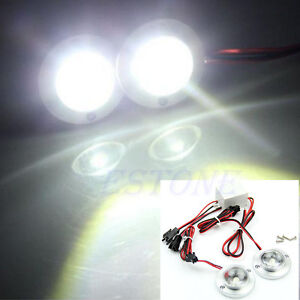 Car-2-LED-Strobe-Bulb-Light-Emergency-Warning-DC-12V-5W-Controller-Flash