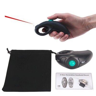 New USB Wireless PC Laptop Finger HandHeld Trackball Mouse Mice w/ Laser Pointer