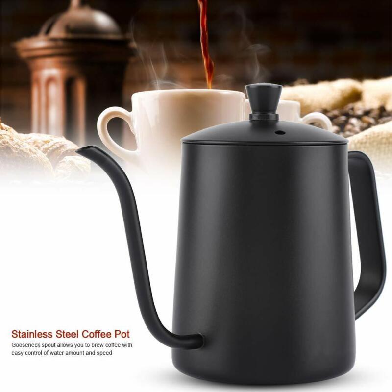550ML Coffee Pot Stainless Steel Tea Kettle Gooseneck Spout Easy Pour Over
