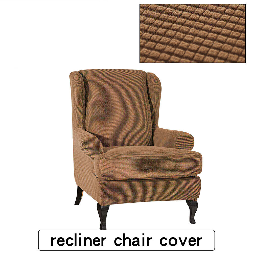 Stretch Fit Furniture Protector Wingback Slipcover Wing ...