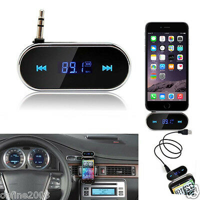Hot Wireless Car Kit 3.5mm FM Transmitter MP3 Player USB SD LCD Remote Handsfree