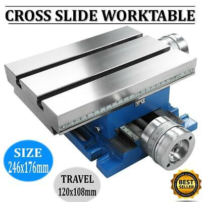 Milling Machine Worktable Cross Slide Table 9.7x6.9 Multifunction Bench Table