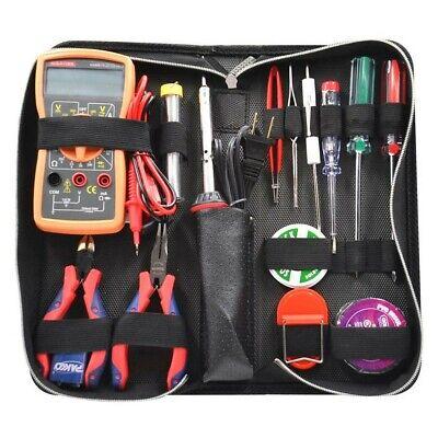 Electrical Electrician Tool Kit 15-piece Set Digital Multimeter Diagonal Cutters