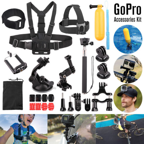 Head Chest Mount Floating Monopod Accessories For GoPro Hero 8 5 6 7 Camera Kit