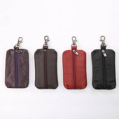Unisex Genuine Leather Key Holder Case Keychains Pouch Bag Wallet Key Ring Well Clothing, Shoes & Accessories