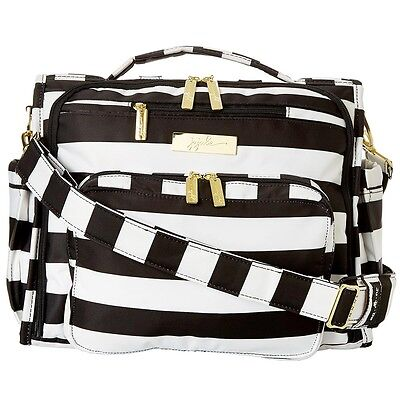 "NEW Ju-Ju-Be - Black/White ""THE FIRST LADY"" B.F.F. Diaper Bag -SALE"