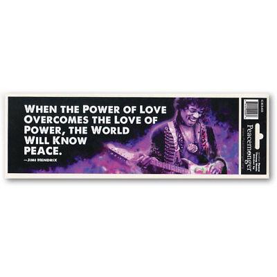 Cs340 Power Of Love Jimi Hendrix Quote Peace Purple Haze Color Sticker Guitarist